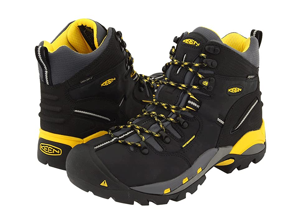 Keen Utility Pittsburgh Boot (Black/Yellow) Men's Work Boots