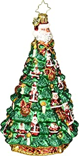 Christopher Radko Santa Tree Christmas Ornament, Green