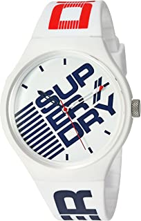 Superdry 'Urban XL Street' Quartz Plastic and Silicone Casual Watch, Color:White (Model: SYG226W)