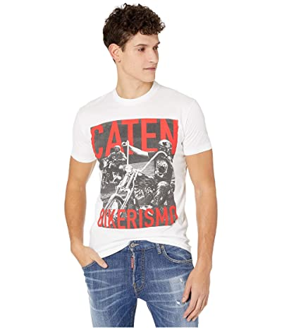 DSQUARED2 Moto Riders Jersey T-Shirt (White) Men