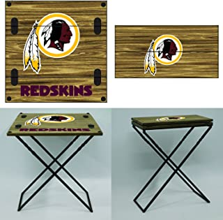 Team Sports America NFL Folding Armchair Table Washington Redskins