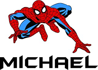 Custom Names Personalized Name Spider Man Super Hero Wall Decals for Kids Bedroom/Boys Wall Decor Vinyl Sticker Art/Cartoon Characters TV Shows Comic Peter Parker Size 20x20 inch