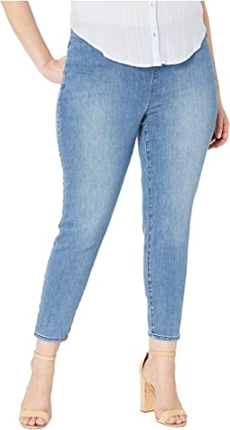 Plus Size Pull-On Skinny Ankle in Aquino
