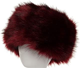 ae04601e0d4844 La Carrie Women's Faux Fur Hat for Winter with Stretch Cossack Russion  Style White Warm Cap