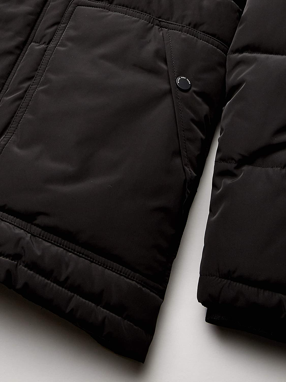 Marc New York by Andrew Marc Mens Stapleton Mid Length Puffer Jacket with Sherpa Trimmed Collar