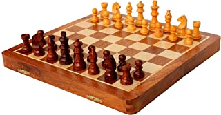 Clearance Sale on StonKraft Travel Folding Wooden Chess Board Game Set, Magnetic Pieces (12 X 12)