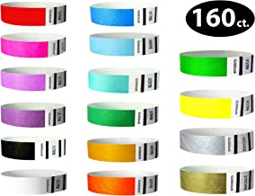 """Tyvek Wristbands– Goldistock """"Ultimate 16"""" 160 Ct. Variety Pack- ¾"""" Arm Bands- Green, Blue, Red, Yellow, Orange, Pink, Purple, Gold & More- Paper-Like Party Armbands- Wrist Bands for Great Events"""