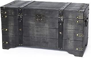 Vintiquewise Storage Trunk, Black