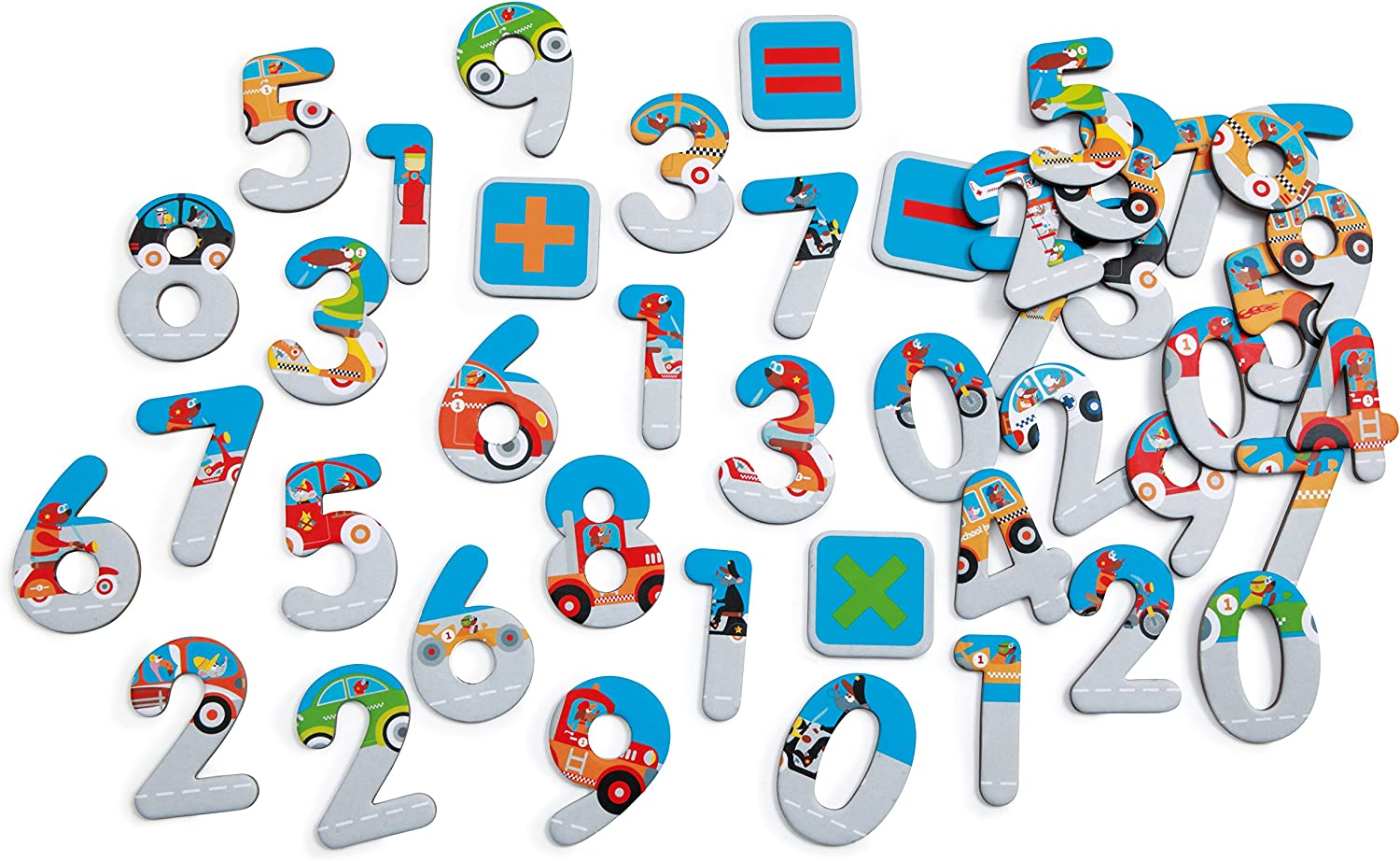 Scratch (scratch) number magnet City 60 piece [SC1067] 3 years old
