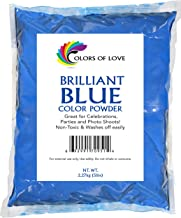 Colors of Love Blue Holi Color Powder - 5 Pound Bag - Ideal for events, bath bombs, youth group color wars, Holi events and more! (5LB)