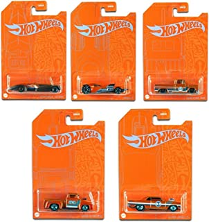 53rd Anniversary Complete Set of 5 Die-Cast Cars Exclusive Blue & Orange Edition Collectors for Hot Wheels Vehicles Action...