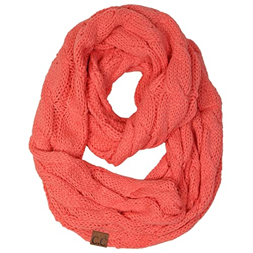f43885b20 Funky Junque's Beanies Matching Ribbed Winter Warm Cable Knit Infinity Scarf