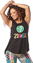 Zumba Women's Sexy Open Back Breathable Workout Tank Top - Tank Mujer