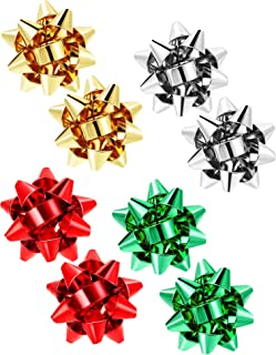 4 Pairs Christmas Bow Earrings Xmas Present Bow Earrings Christmas Stud Earrings for Women Favors