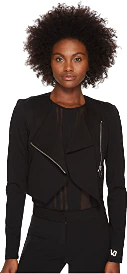 Asymmetrical Zip Long Sleeve Jacket