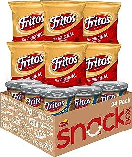 Frito Lay Fritos Original Chips & Bean Dip Cans Variety Pack, 24Count