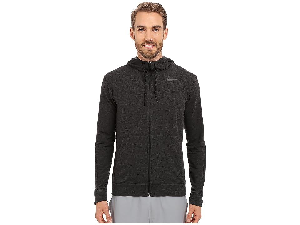 Nike Dri-FITtm Fleece Full-Zip Training Hoodie (Black/Black) Men