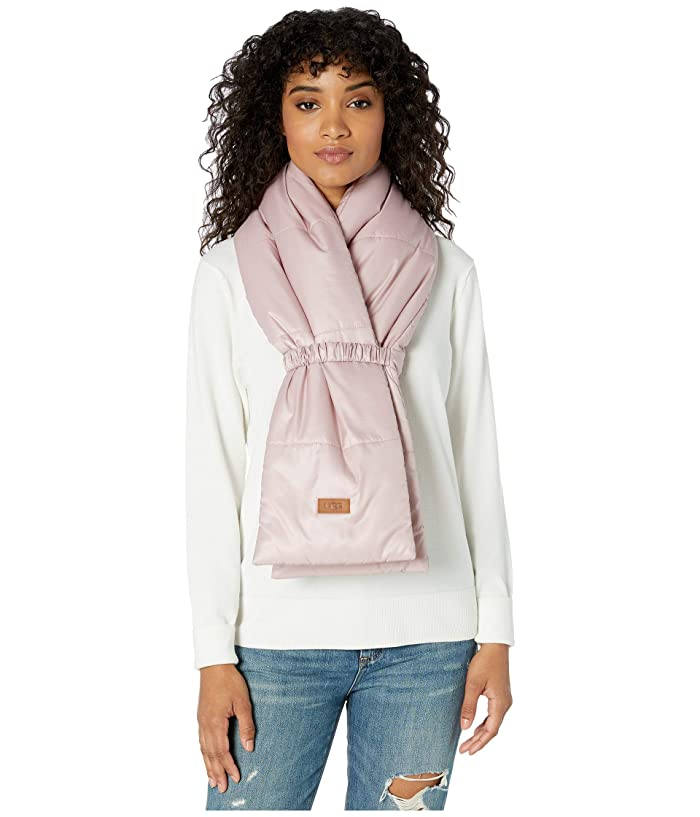 UGG  All Weather Puffer Scarf (Pink Crystal) Scarves