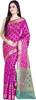 Chandrakala Women's Cotton Silk Blend Indian Ethnic Banarasi Saree with Unstitched Blouse Piece(1247)
