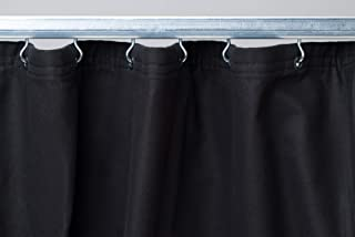 CCS CHICAGO CANVAS & SUPPLY Commando Cloth Backdrop Curtain, Black, 10 by 12 Feet