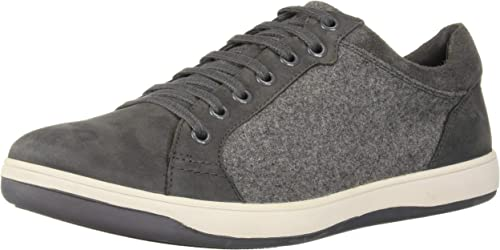 Hush Puppies Men& 039;s Tygo Commissioner Oxford, Dark Grünubuck Wool, 8 W US