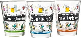 Set of 3 New Orleans Street Sign Mardi Gras Souvenir Shot Glasses