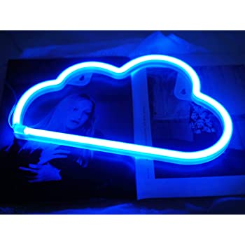 Cloud Neon Light Cute Neon Cloud Sign Battery Or Usb Powered Night Light As Wall Decor For Kids Room Bedroom Festival Party Blue Amazon Com