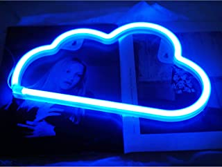 Cloud Neon Light, Cute Neon Cloud Sign, Battery or USB Powered Night Light as Wall Decor for Kids Room, Bedroom, Festival,...