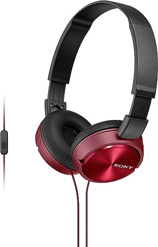 Fone de Ouvido com Microfone, Sony, Preto/Vermelho