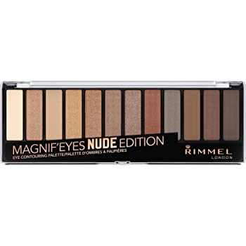Rimmel 12 Pan Eyeshadow Palette, Nude Edition, 14 g