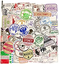 Best travel luggage stickers vintage Reviews