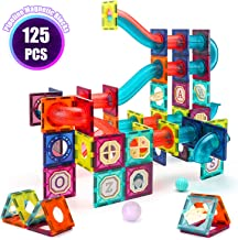 VATOS 125 PCS Magnetic Tiles, Magnetic Building Blocks for Kids , 3D Magnetic Toys for Kids, Preschool Stem Toys Building Set for Boy and Girls 3 4 5 6 7 8