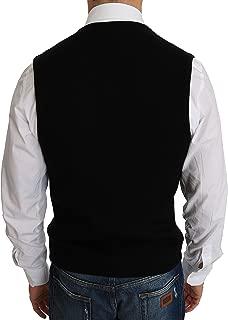 Black Cotton Dress Woven Waistcoat