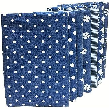 ZAIONE - Lote de 7 telas acolchadas de 48 cm x 48 cm, 100% algodón, tela