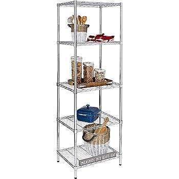 Honey-Can-Do SHF-01054 5-tier chrome shelving unit, 250 lbs