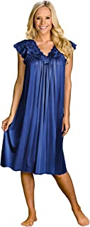 "Shadowline womens Silhouette 40"" Short Cap Sleeve Waltz Gown Nightgown"