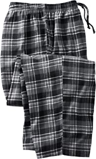 Men's Big & Tall Flannel Plaid Pajama Pants