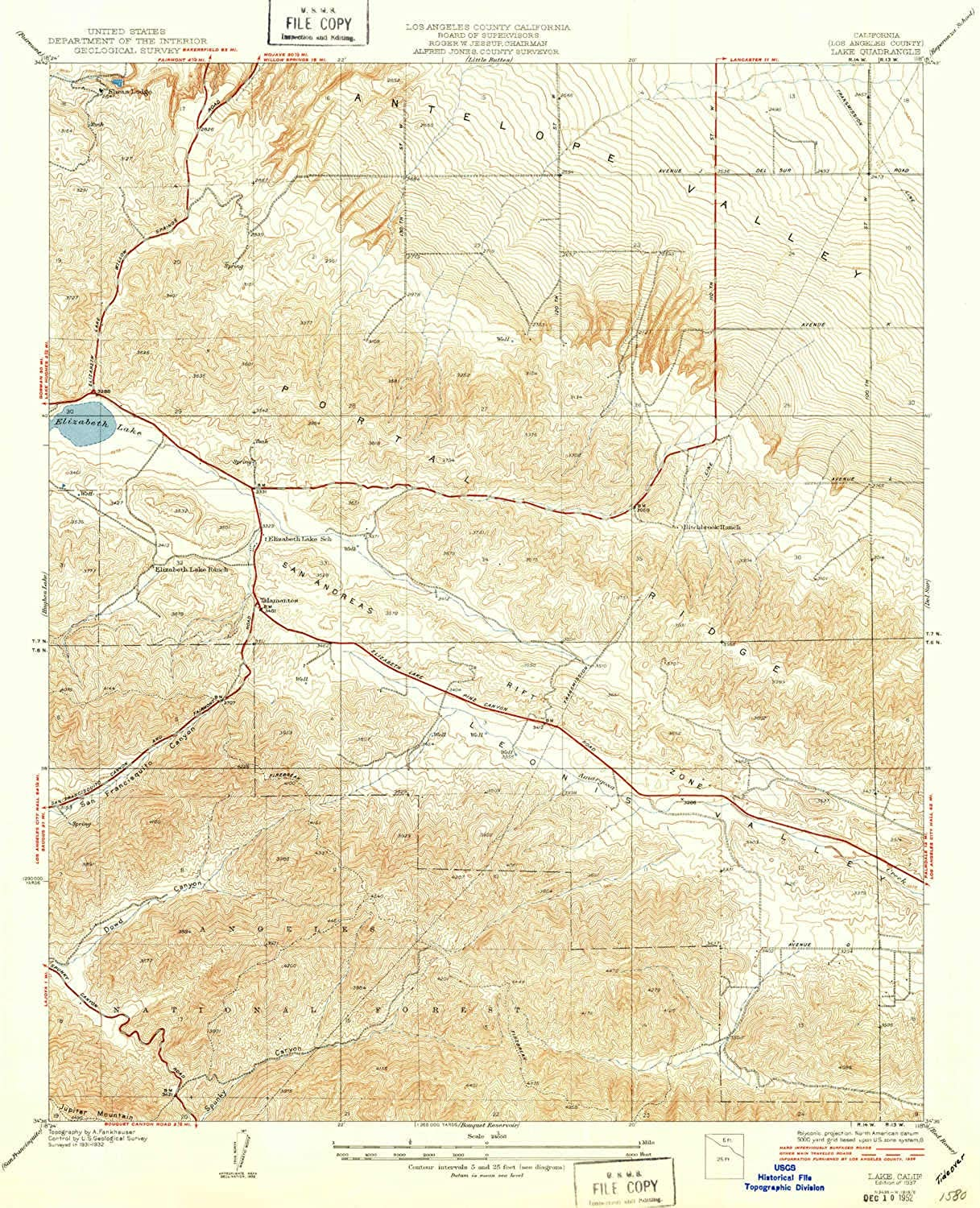 Lake CA topo map, 1 24000 Scale, 7.5 X 7.5 Minute, Historical, 1937, 20.8 x 17 in