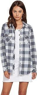Volcom Women's Plus Size Getting Rad Long Sleeve Flannel