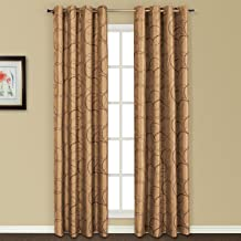 United Curtain Sinclair Embroidered Window Curtain Panel, 54 by 63-Inch, Taupe