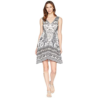 Hale Bob Simply Irresistible Stretch Satin Tank Dress (Beige) Women