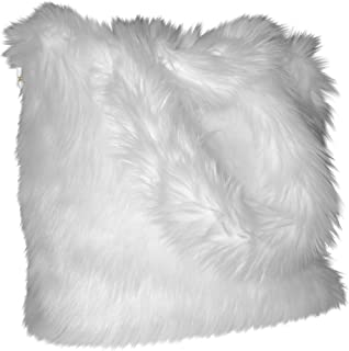 CHC-Beverly Hills Luxurious Signature Fluffy Fur Weekender Bag Bright-orange Large, White (white) - FF-LWB-W1