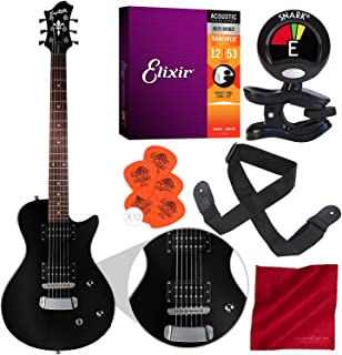 Hagstrom Ultra Swede ESN Electric Guitar Black with Basic Bundle