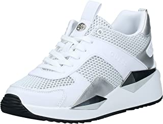 GUESS Typical2 Women's Athletic & Outdoor Shoes, White (White/Multicolor WHMLL), 38.5 EU