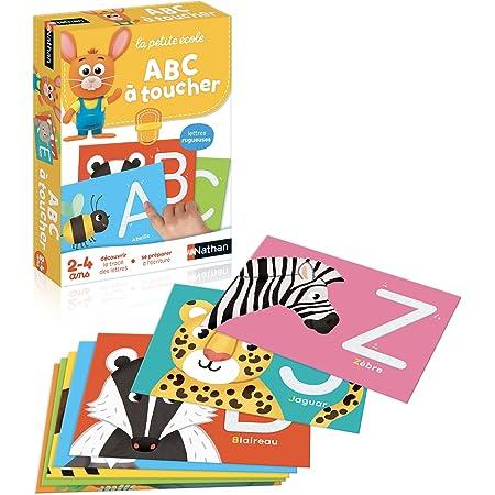 Nathan - ABC à toucher - lettres rugueuses pour apprendre à écrire de 2 à 4 ans