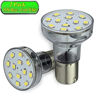 Leisure LED RV Trailer Motorhome LED Spot Light 1156 1139 1141 1383 LED Bulb 2 Watt 275 Lumen CW 10-30Volt 12Volt Long Neck (Cool White 6500K, 2-Pack Long Neck)