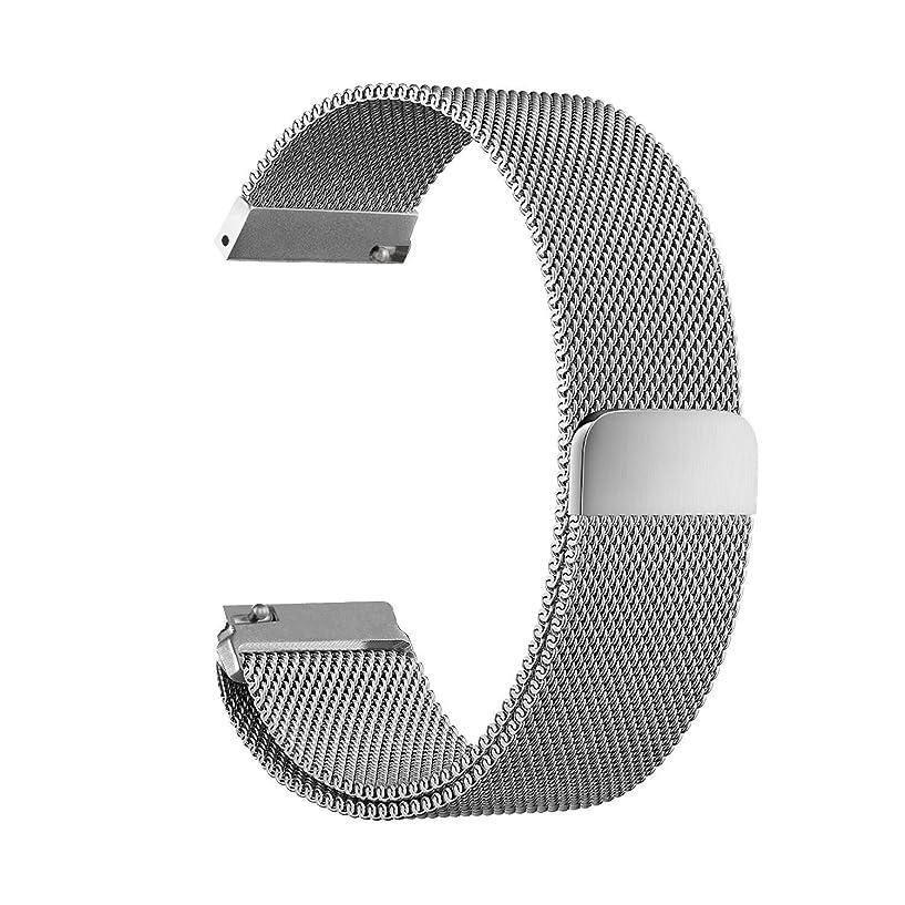 薄い浸食アームストロングMaxku Nokia スマートウォッチ Steel HR 40mm バンド ビジネス風 金属 ステンレス製 精密製作 ミラノ 高級腕時計ストラップ/バンド 交換ベルト (シルバー)