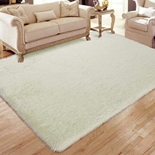 Flagover Soft Fluffy Modern Living Room Area Rugs Shaggy...