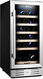 Undercounter Dual-Zone Wine Cellar with 28 Bottle Capacity44; Stainless Steel Summit Appliance SWC182ZCSS 18 in