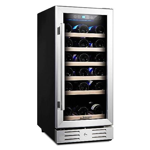 Stainless Steel SPT WC-31U Under-Counter 32-Bottle Wine and Beverage Cooler